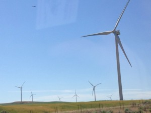 Wind power across the west.