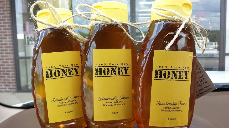 Three Bottles Blankenship Farms Honey
