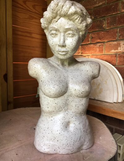 Lady in White Sculpture